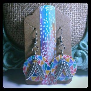 Jewelry - Fractal Feather Earrings